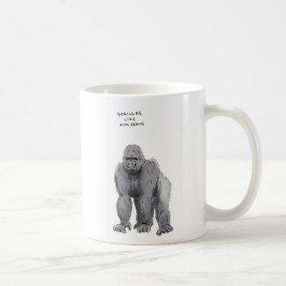 curiosidades del gorila taza