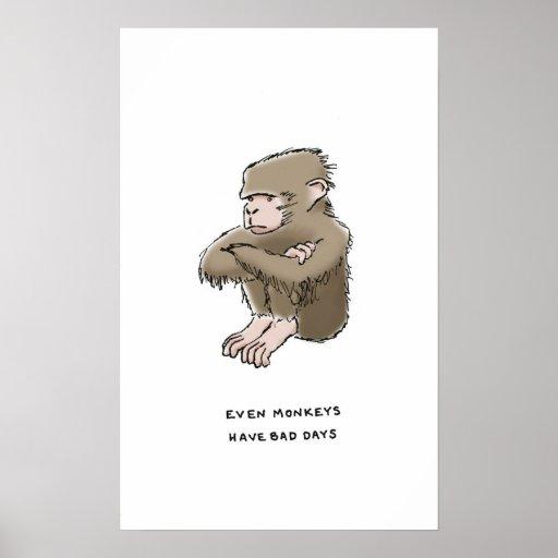 curiosidades del mono poster