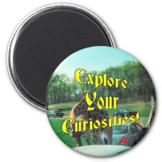 Curiosity 2 Inch Round Magnet