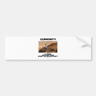 Curiosity 5 Times Heavier Than Spirit Opportunity Car Bumper Sticker