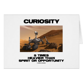 Curiosity 5 Times Heavier Than Spirit Opportunity Card