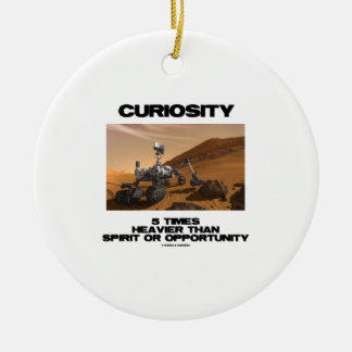Curiosity 5 Times Heavier Than Spirit Opportunity Double-Sided Ceramic Round Christmas Ornament
