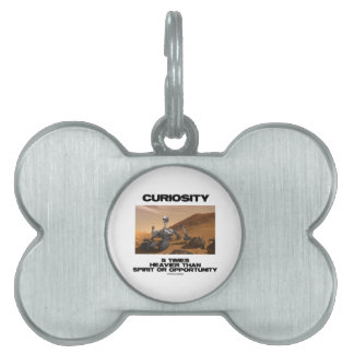 Curiosity 5 Times Heavier Than Spirit Opportunity Pet Name Tag