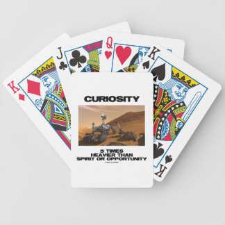 Curiosity 5 Times Heavier Than Spirit Opportunity Bicycle Playing Cards