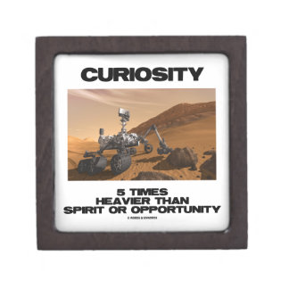 Curiosity 5 Times Heavier Than Spirit Opportunity Premium Jewelry Boxes