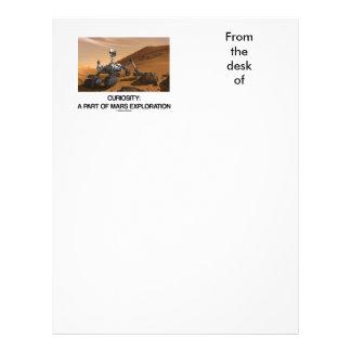 Curiosity A Part Of Mars Exploration Personalized Letterhead