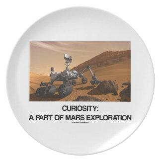 Curiosity A Part Of Mars Exploration Melamine Plate