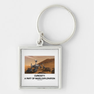 Curiosity A Part Of Mars Exploration Silver-Colored Square Keychain
