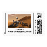 Curiosity: A Part Of Mars Exploration Stamp