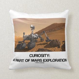 Curiosity: A Part Of Mars Exploration Throw Pillow