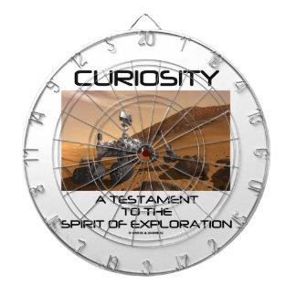 Curiosity A Testament To The Spirit Of Exploration Dartboard