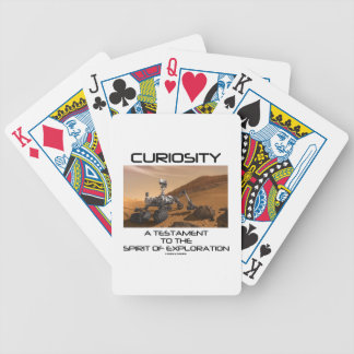 Curiosity A Testament To The Spirit Of Exploration Bicycle Card Deck