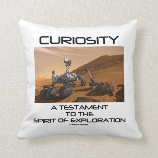 Curiosity A Testament To The Spirit Of Exploration Throw Pillow