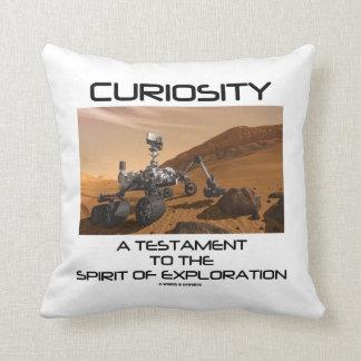 Curiosity A Testament To The Spirit Of Exploration Throw Pillow
