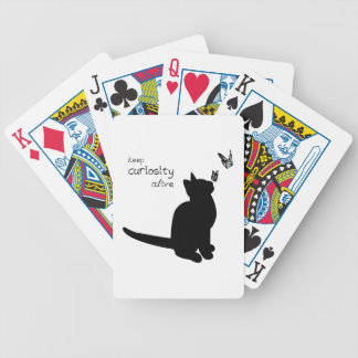 Curiosity Alive Bicycle Poker Cards