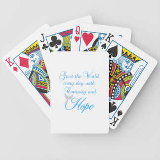 CURIOSITY AND HOPE BICYCLE PLAYING CARDS