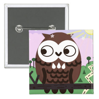 Curiosity and The Wise Old Owl Pinback Button