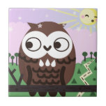 Curiosity and The Wise Old Owl Ceramic Tiles