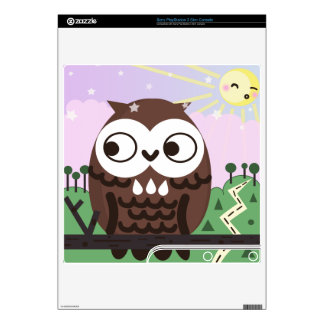 Curiosity and The Wise Old Owl PS3 Slim Console Skins