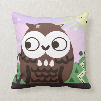 Curiosity and The Wise Old Owl Throw Pillow