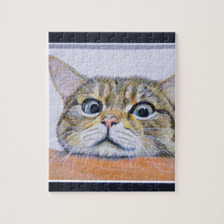 Curiosity Cat Jigsaw Puzzle
