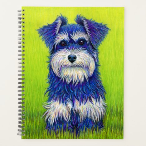 Curiosity Colorful Miniature Schnauzer Dog Planner