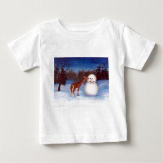 Curiosity Deer and Snowman Toddler Tshirt