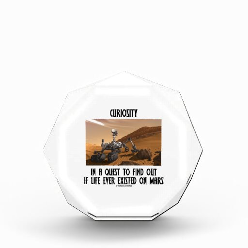 Curiosity In A Quest To Find Out Life On Mars Acrylic Award
