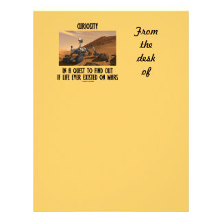Curiosity In A Quest To Find Out Life On Mars Letterhead