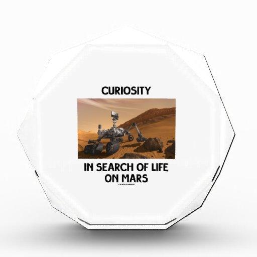 Curiosity In Search Of Life On Mars Martian Rover Acrylic Award