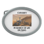 Curiosity In Search Of Life On Mars Martian Rover Oval Belt Buckle