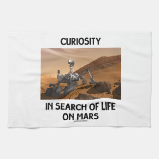 Curiosity In Search Of Life On Mars Martian Rover Kitchen Towel