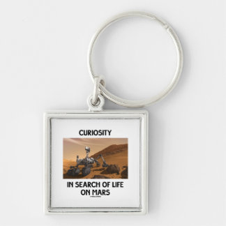 Curiosity In Search Of Life On Mars Martian Rover Silver-Colored Square Keychain