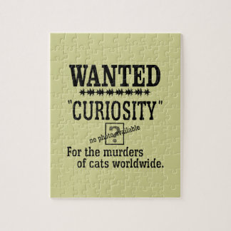 Curiosity Killed the Cat - Beige background color Jigsaw Puzzle