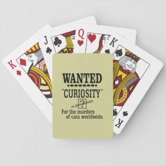 Curiosity Killed the Cat - Beige background color Card Decks