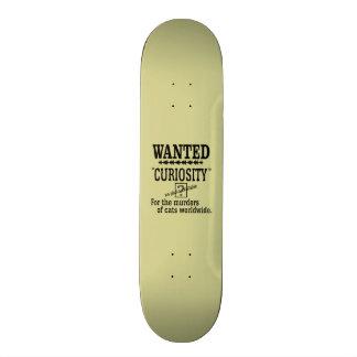 Curiosity Killed the Cat - Beige background color Skateboards