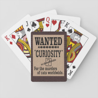 Curiosity Killed the Cat - Brick Background Deck Of Cards