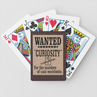 Curiosity Killed the Cat - Brick Background Bicycle Playing Cards
