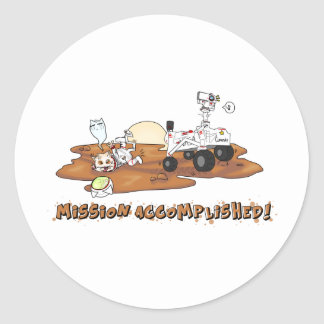 Curiosity killed the Cat Classic Round Sticker