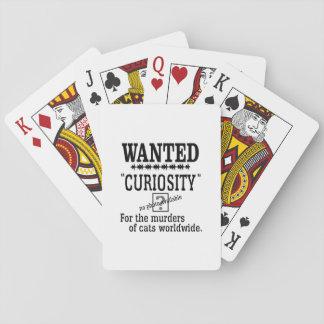 Curiosity Killed the Cat -Custom Background Color Poker Deck