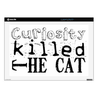 "Curiosity killed the Cat - Proverb 17"" Laptop Decals"