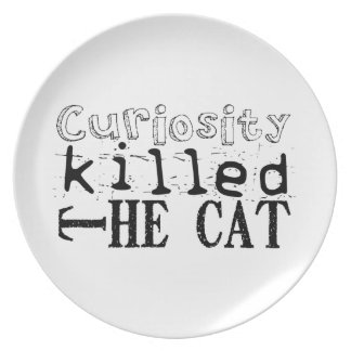 Curiosity killed the Cat - Proverb Party Plates