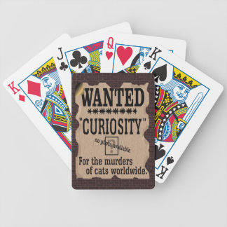 Curiosity Killed the Cat Wanted Poster - Vintage Bicycle Playing Cards