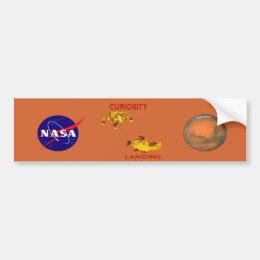 Curiosity Landing:  Aug 5, 2012 Bumper Sticker