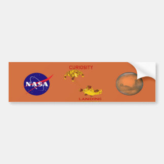 Curiosity Landing:  Aug 5, 2012 Bumper Sticker