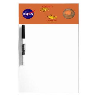 Curiosity Landing - Aug 5, 2012 Dry Erase White Board