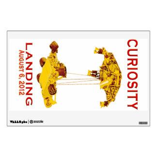 Curiosity Landing:  Aug 6, 2012 Wall Sticker