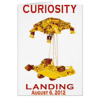 Curiosity Landing Aug 6, 3012 Card