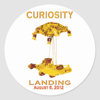 Curiosity Landing Aug 6, 3012 Classic Round Sticker