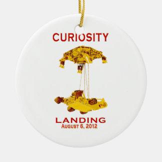 Curiosity Landing Aug 6, 3012 Double-Sided Ceramic Round Christmas Ornament